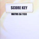 Math SA KEY 1133