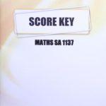 Math SA KEY 1137