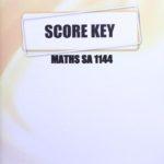 Math SA KEY 1144