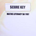 Math Literacy SA KEY 1107