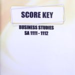 Business Studies SA KEY 1111-1112