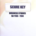 Business Studies SA KEY 1133-1134