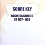 Business Studies SA KEY 1137-1138