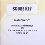 Supervisors Reference KEY Maths 1073-1081 (S.A)