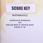 Supervisors Reference KEY Maths 1091-1096 (S.A)