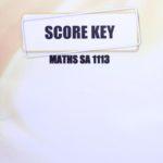 Maths SA KEY 1113 (10/15)