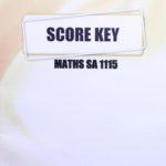 Maths SA KEY 1115 (11/15)