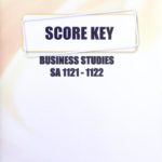 Business Studies SA KEY 1121-1122 (05/17)